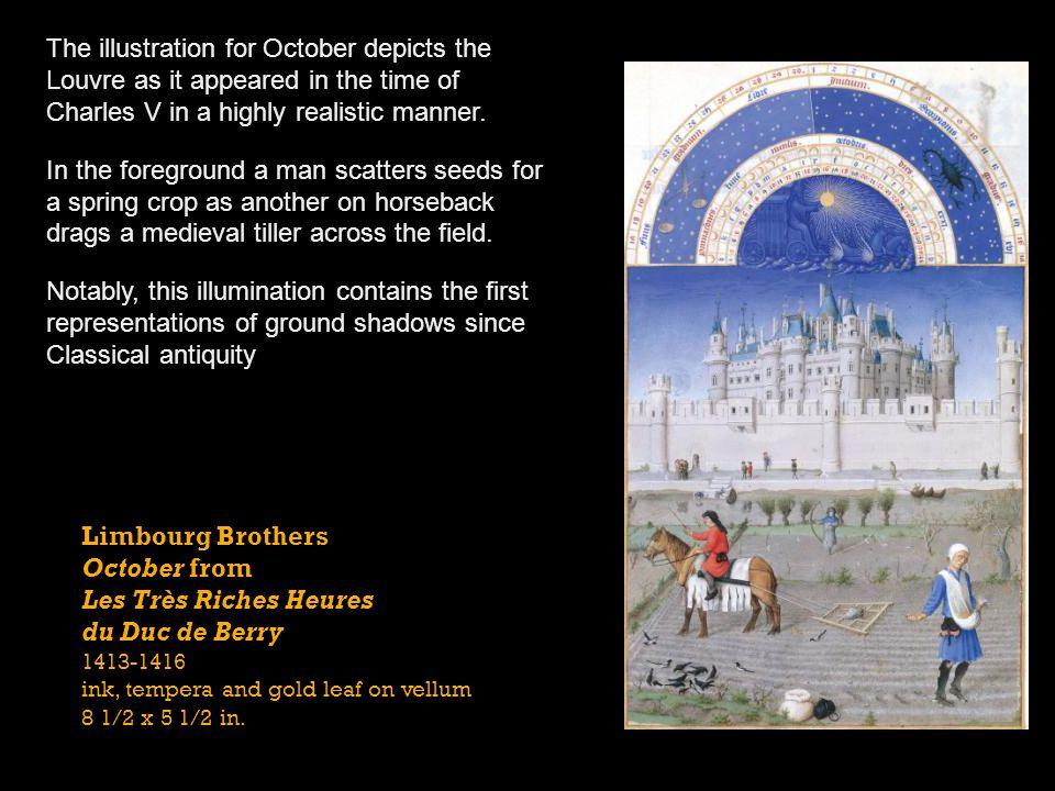 October from Les Très Riches Heures du Duc de Berry