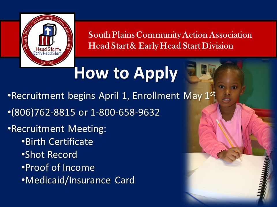 How to Apply Recruitment begins April 1, Enrollment May 1st