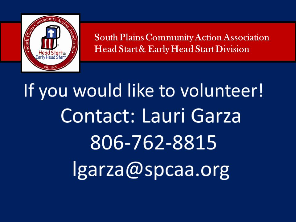 Contact: Lauri Garza 806-762-8815 lgarza@spcaa.org