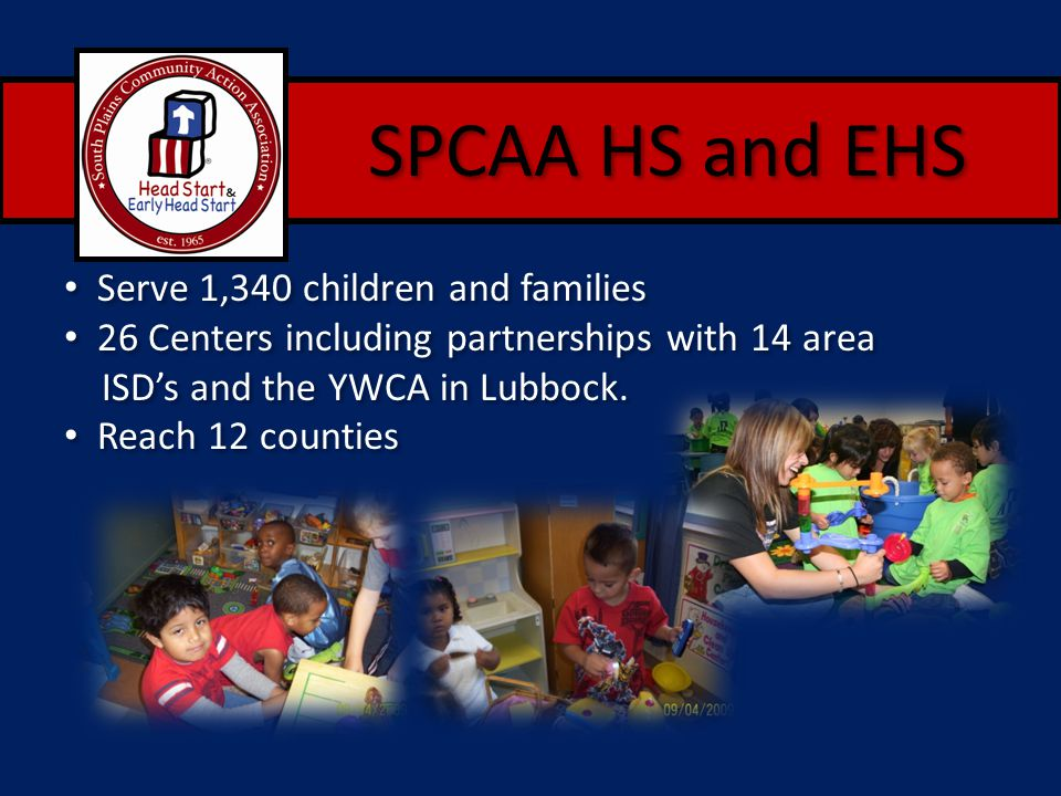 SPCAA HS and EHS Serve 1,340 children and families