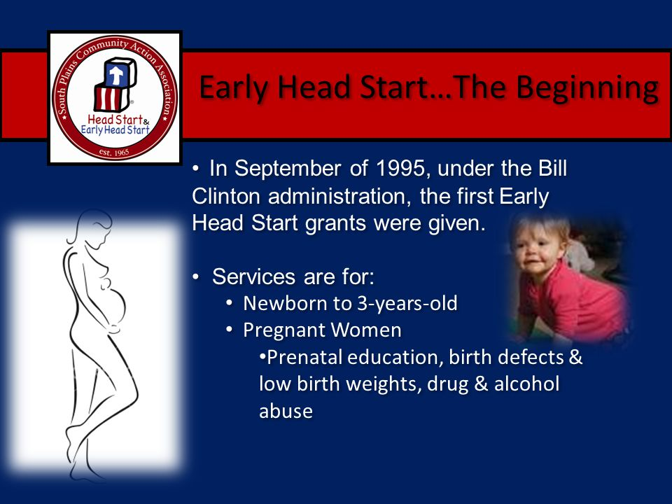 Early Head Start…The Beginning