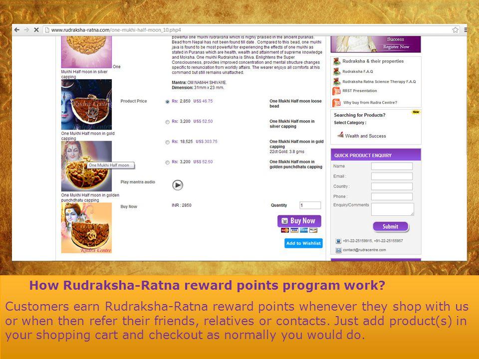 How Rudraksha-Ratna reward points program work