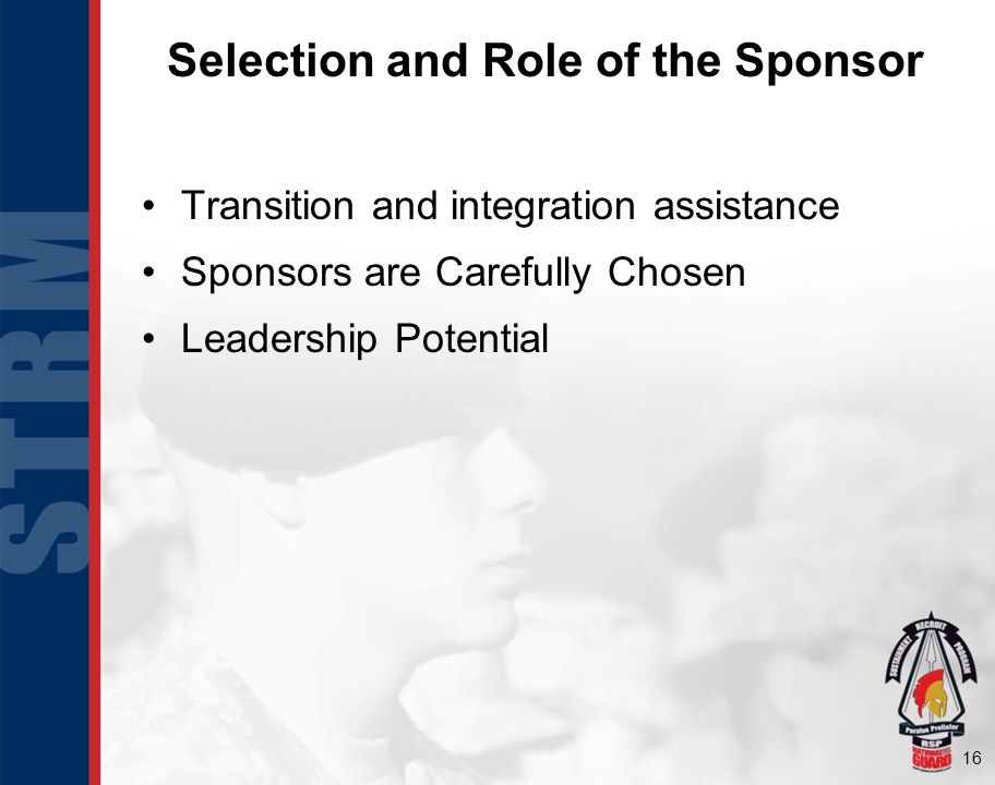 Selection and Role of the Sponsor