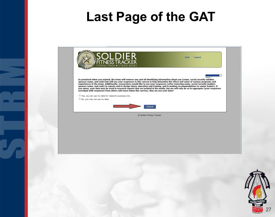 Last Page of the GAT