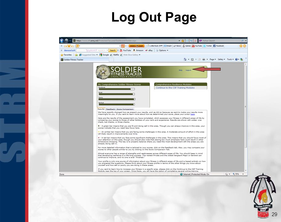 Log Out Page