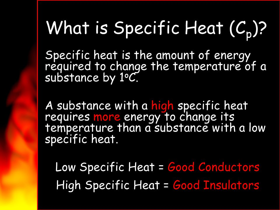 What is Specific Heat (Cp)