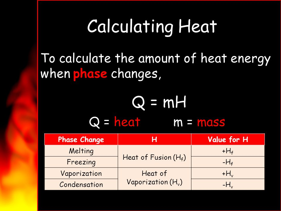 Heat of Vaporization (Hv)
