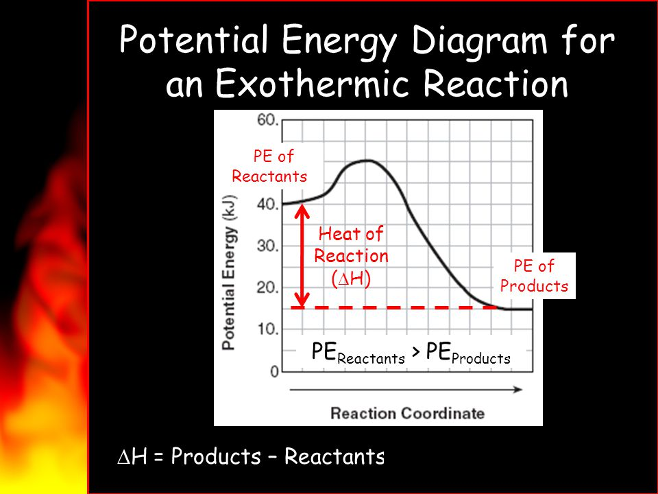 Potential Energy Diagram for an Exothermic Reaction