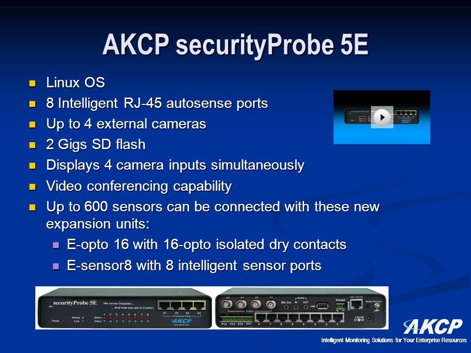 AKCP securityProbe 5E Linux OS 8 Intelligent RJ-45 autosense ports