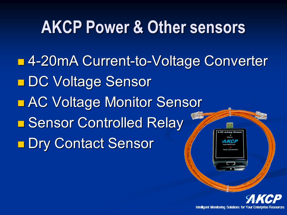 AKCP Power & Other sensors