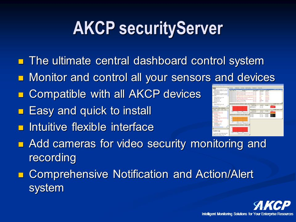 AKCP securityServer The ultimate central dashboard control system