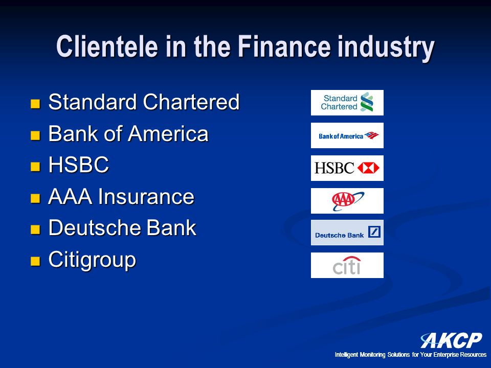 Clientele in the Finance industry