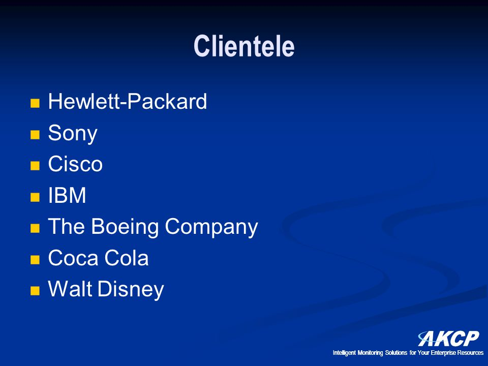 Clientele Hewlett-Packard Sony Cisco IBM The Boeing Company Coca Cola