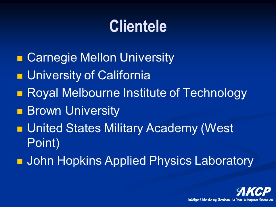 Clientele Carnegie Mellon University University of California