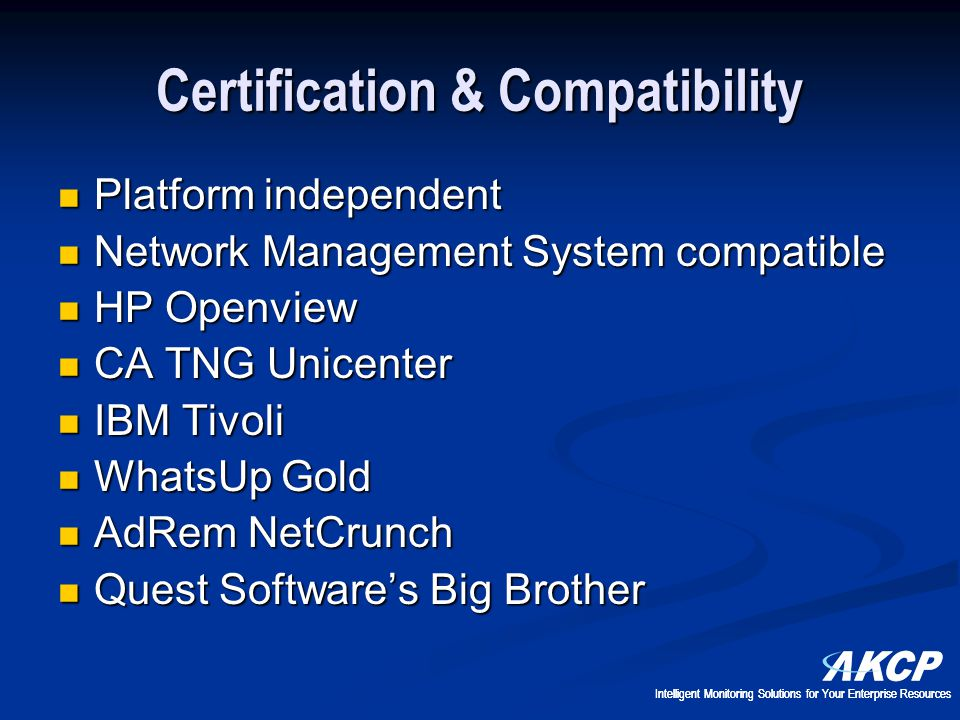 Certification & Compatibility