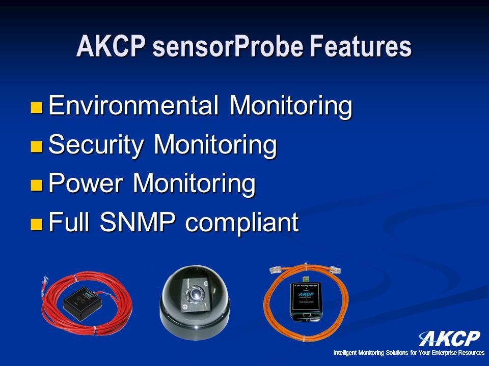 AKCP sensorProbe Features