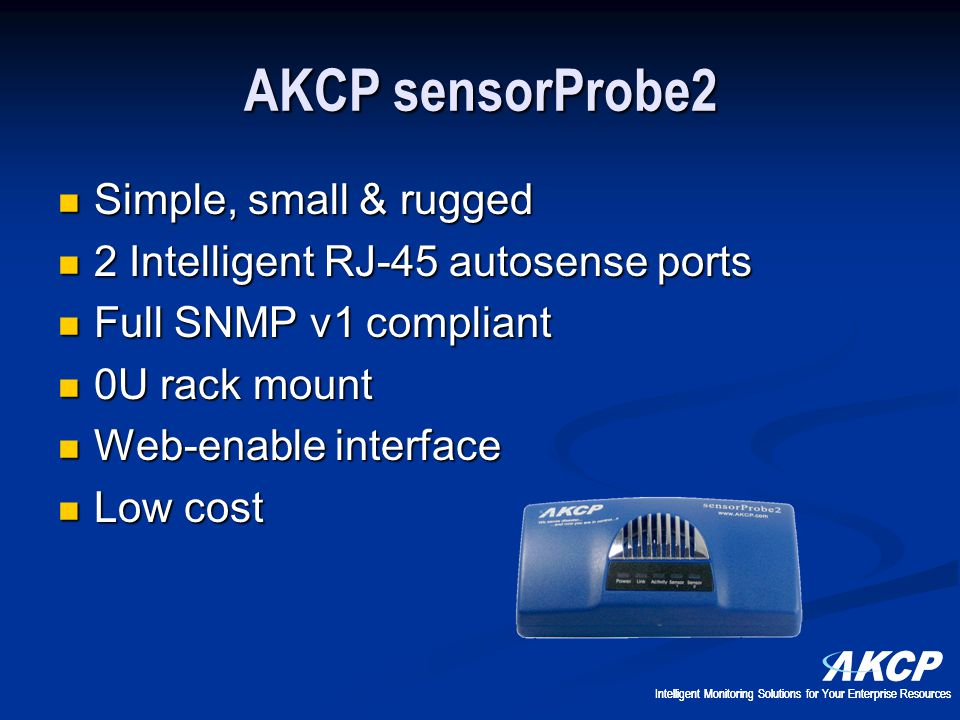 AKCP sensorProbe2 Simple, small & rugged