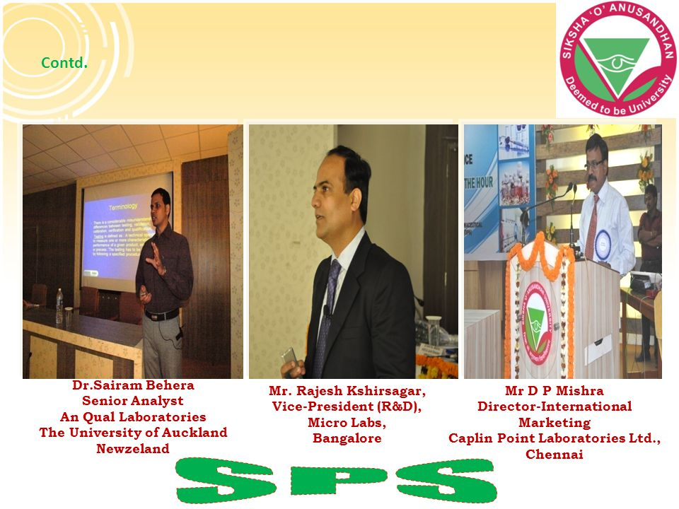 SPS Contd. Dr.Sairam Behera Senior Analyst An Qual Laboratories