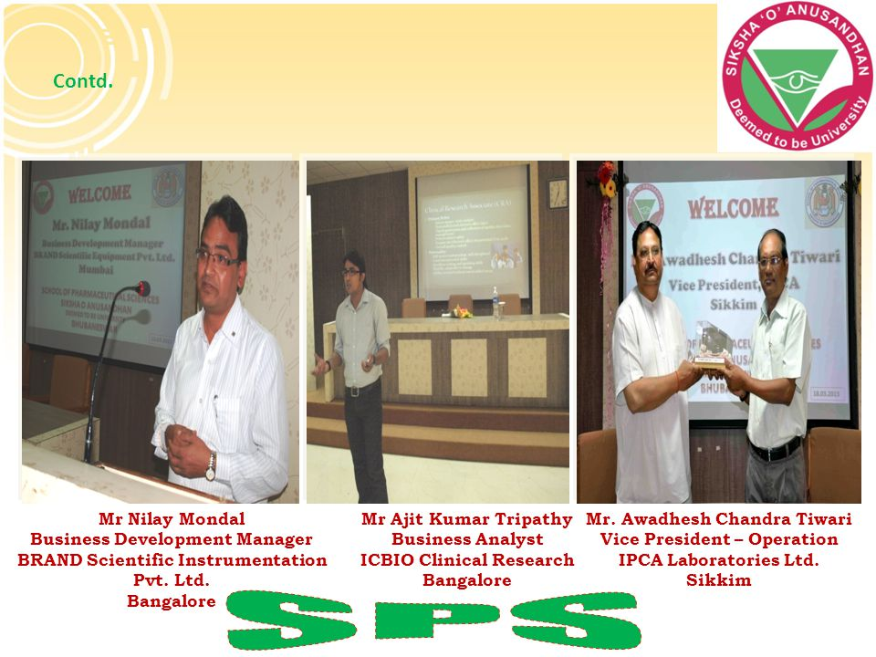 SPS Contd. Mr Nilay Mondal Business Development Manager