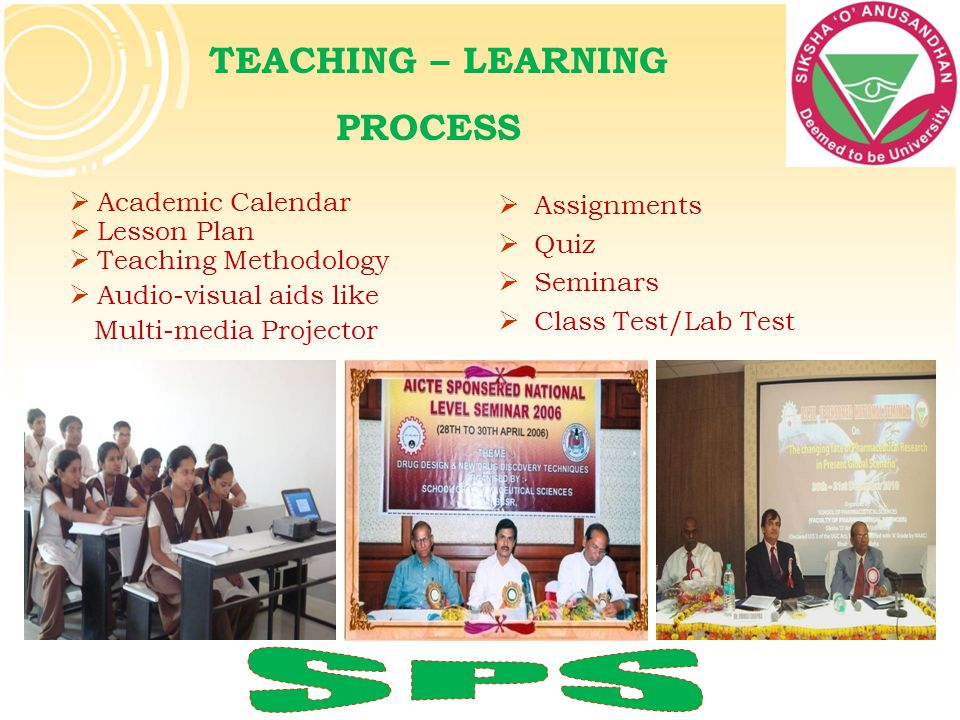 SPS TEACHING – LEARNING PROCESS Academic Calendar Lesson Plan