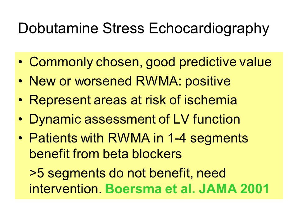 Dobutamine Stress Echocardiography
