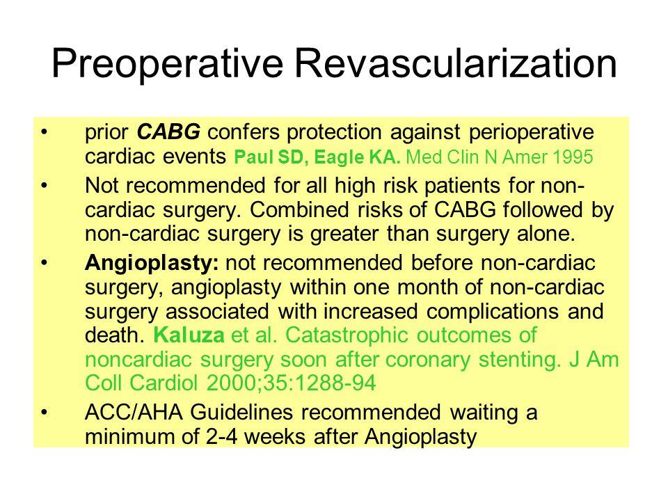 Preoperative Revascularization