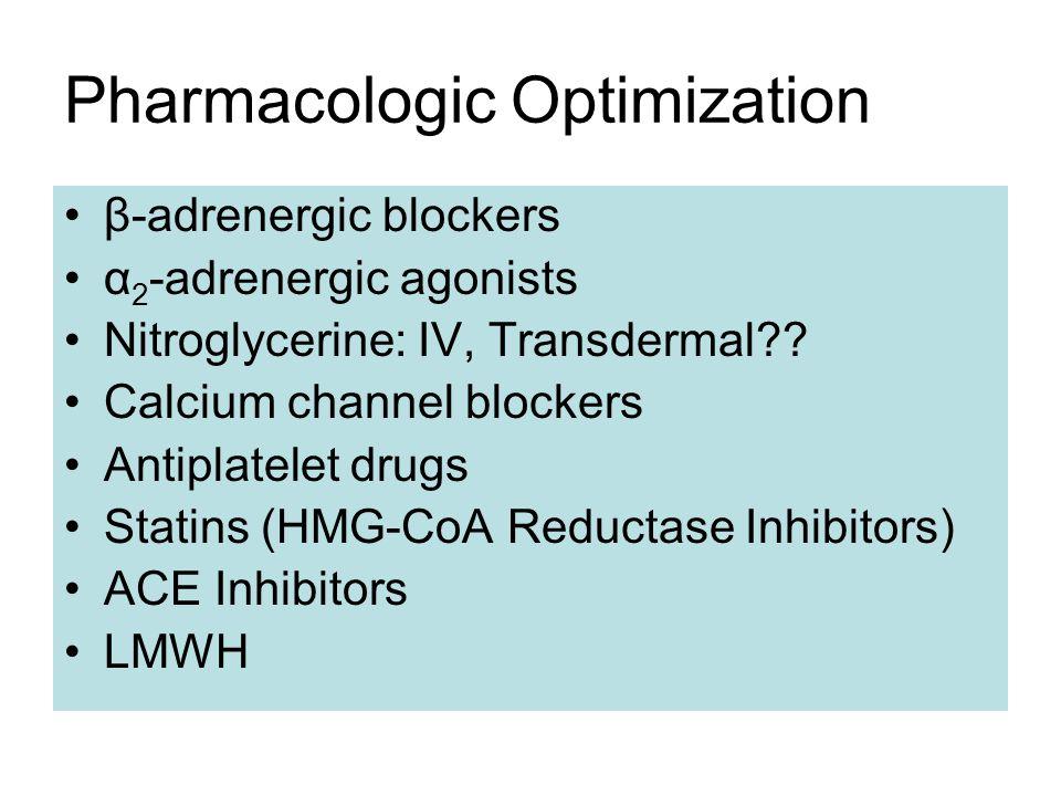 Pharmacologic Optimization