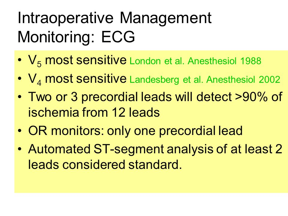 Intraoperative Management Monitoring: ECG