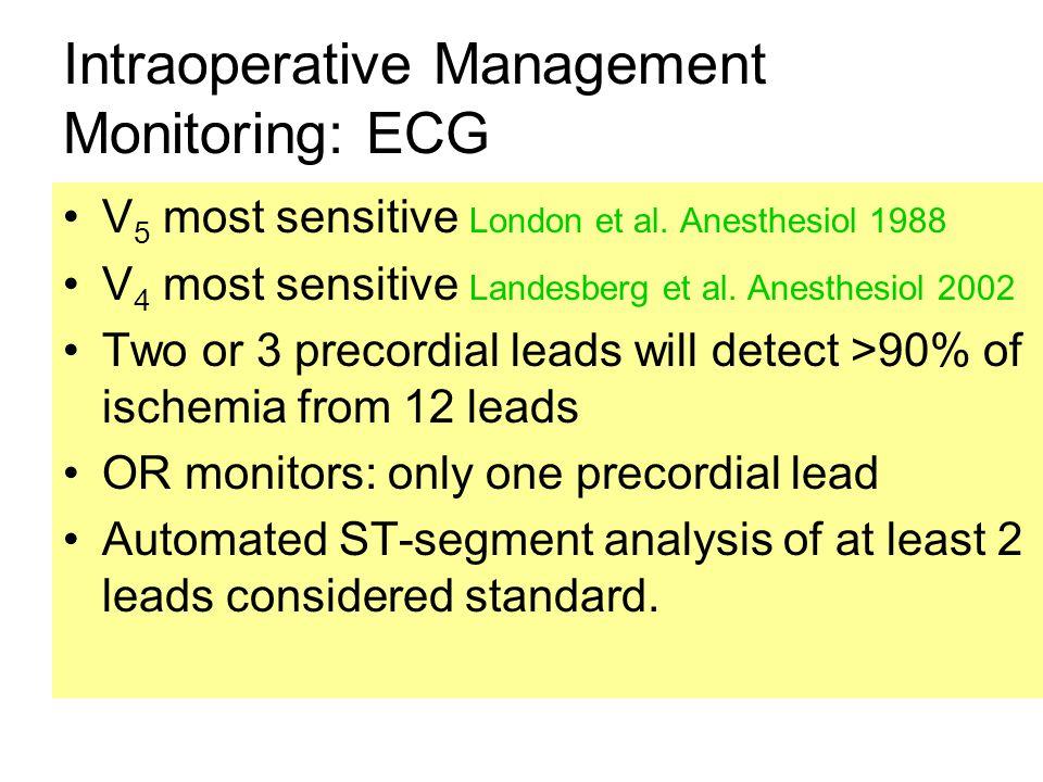 Intraoperative Management Monitoring: ECG