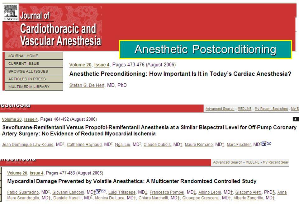 Anesthetic Postconditioning