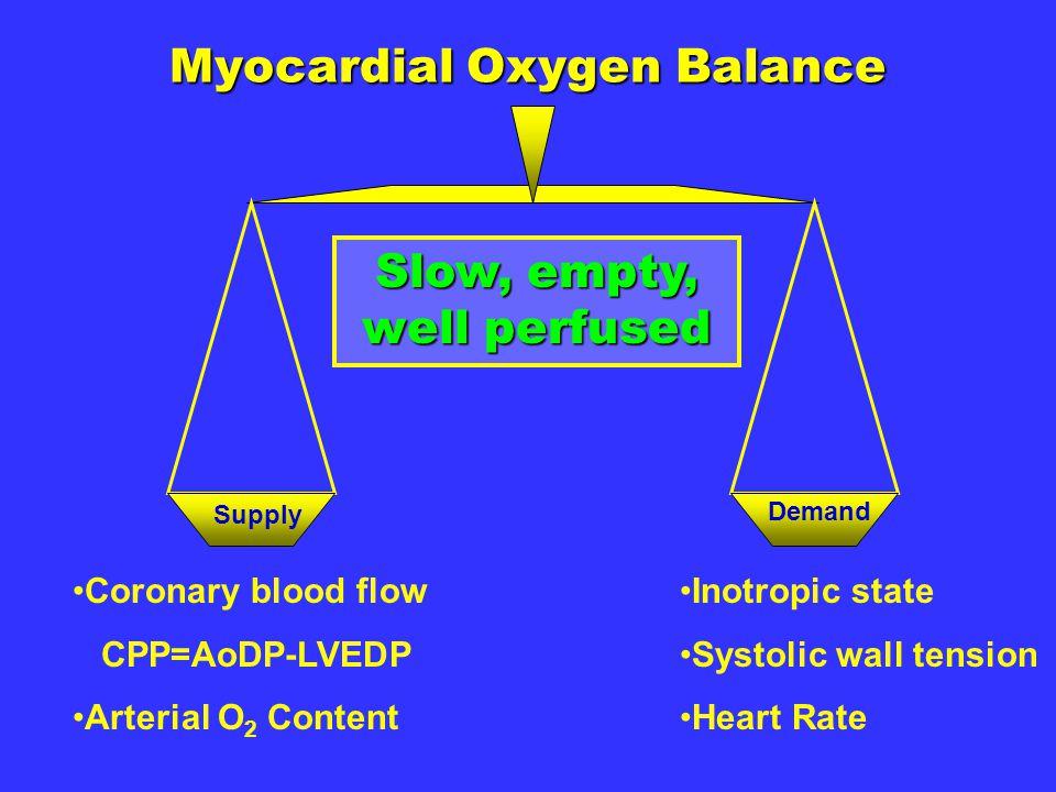 Myocardial Oxygen Balance