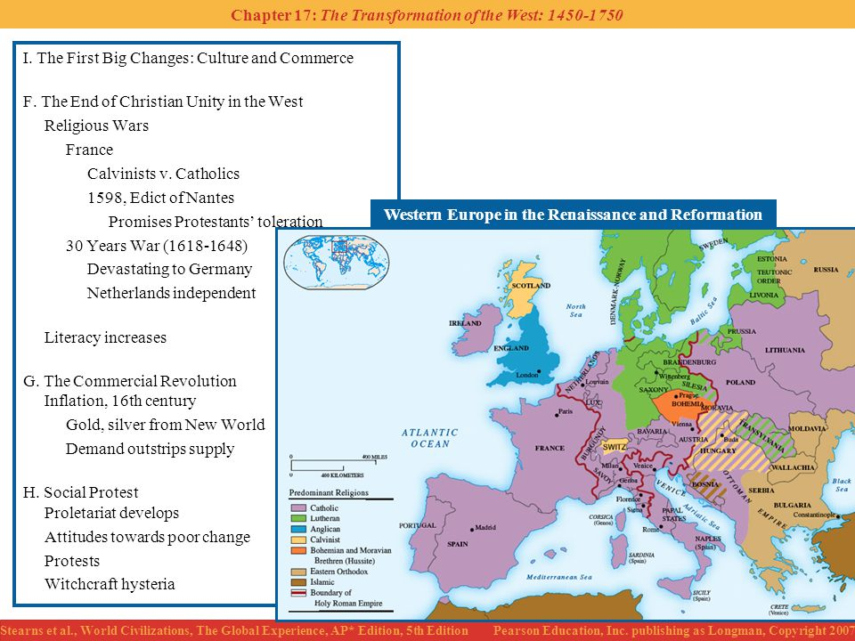 Western Europe in the Renaissance and Reformation