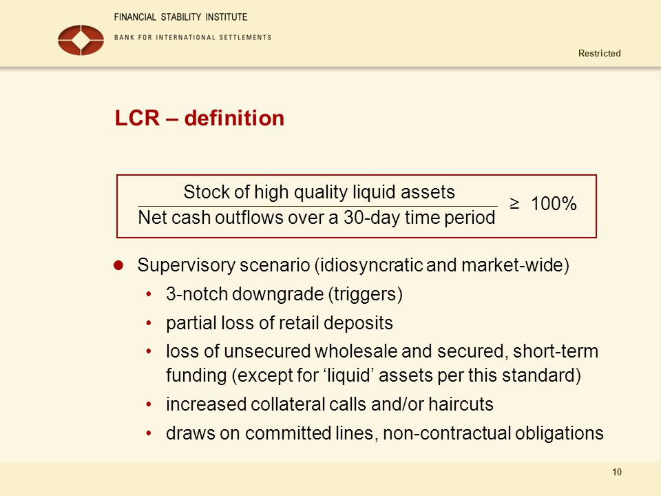 Stock of high quality liquid assets