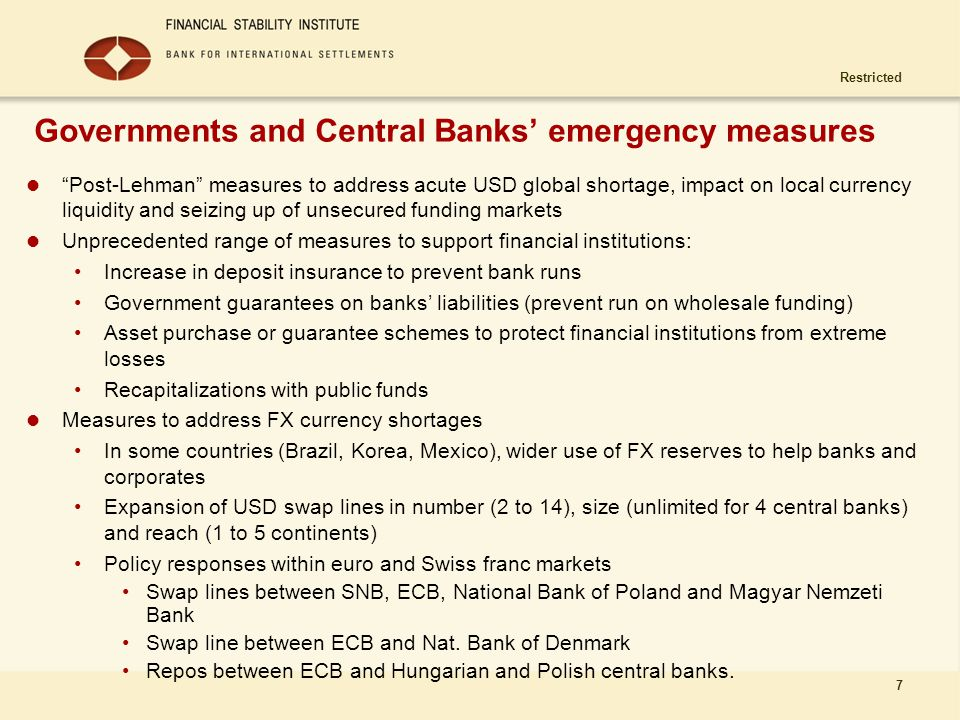 Governments and Central Banks' emergency measures