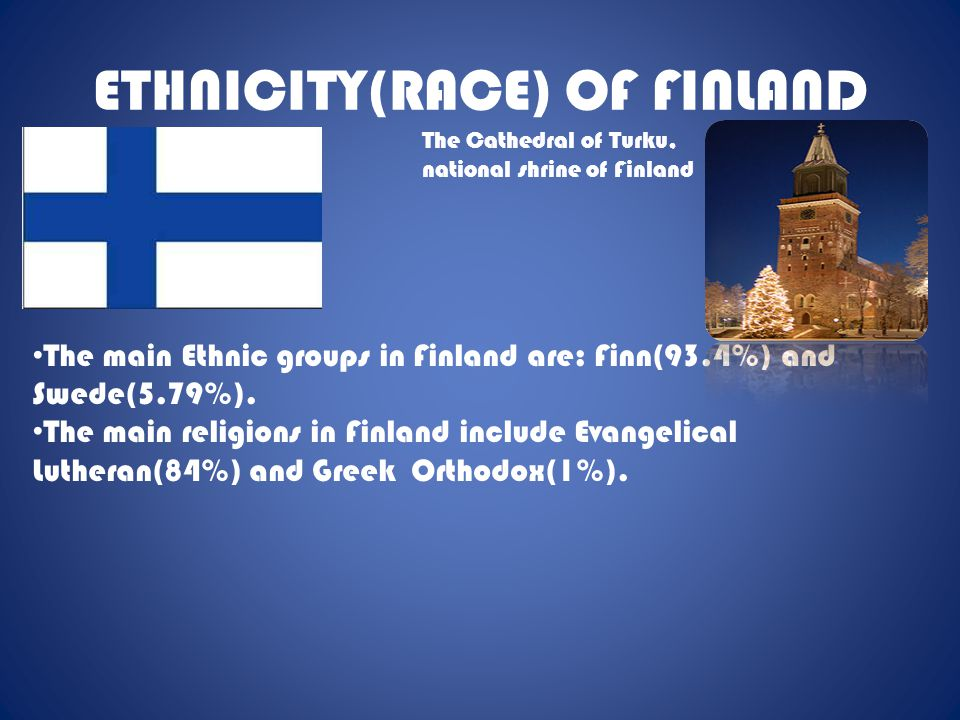 ETHNICITY(RACE) OF FINLAND