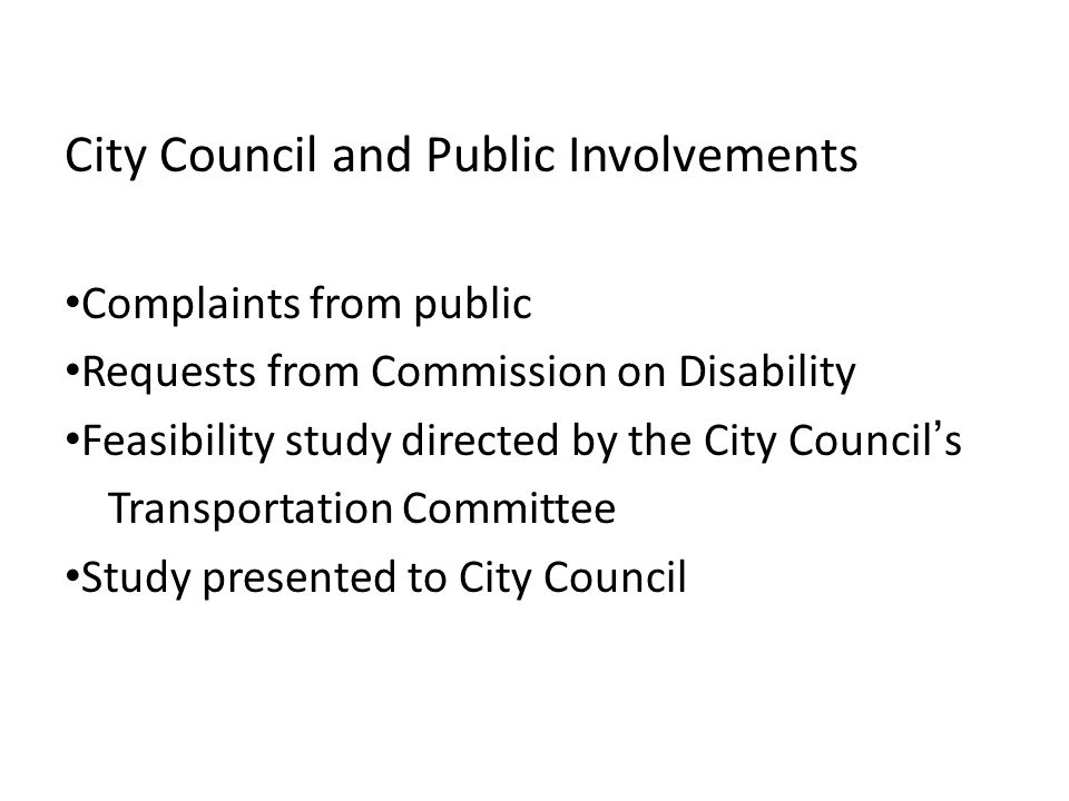 City Council and Public Involvements