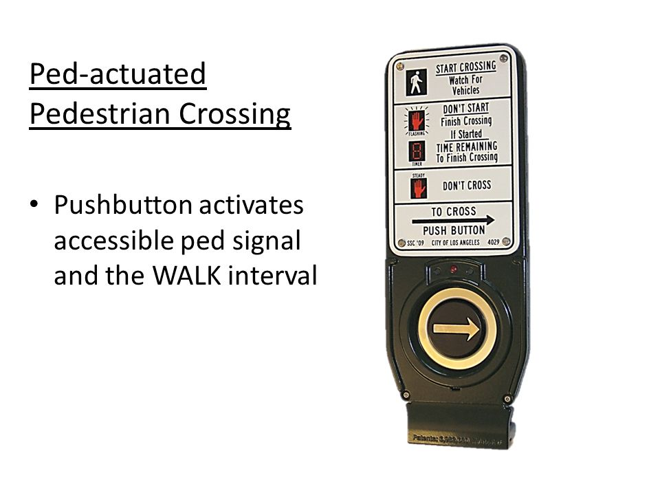 Ped-actuated Pedestrian Crossing