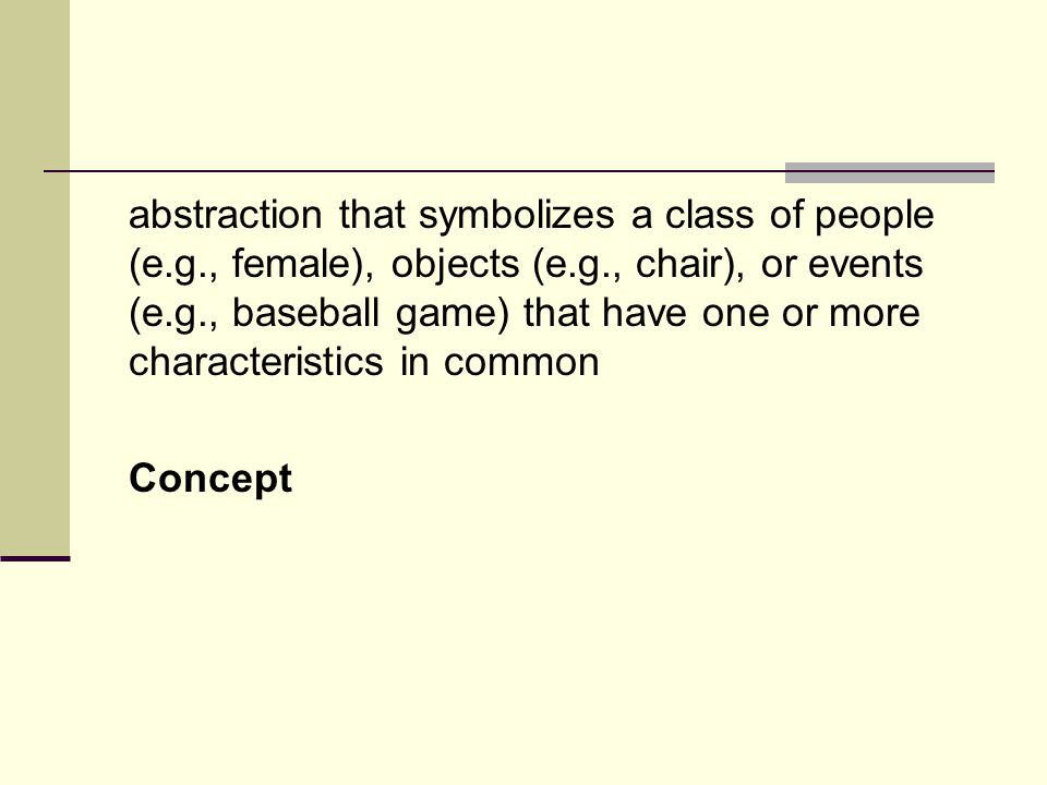 abstraction that symbolizes a class of people (e. g