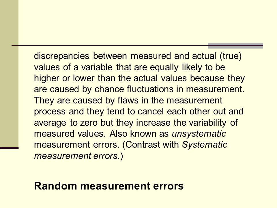 Random measurement errors