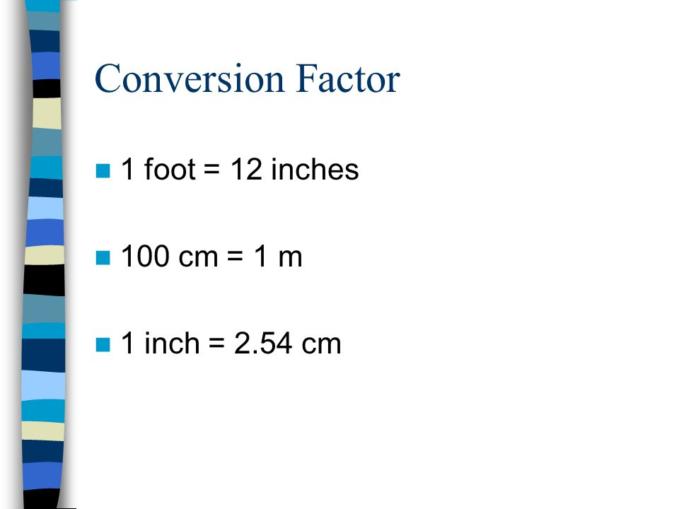 The metric system a decimal system of units for Foot in metric