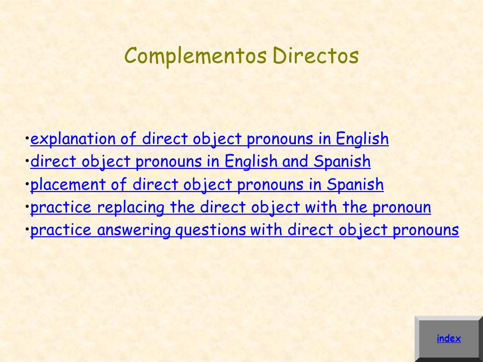 Complementos Directos