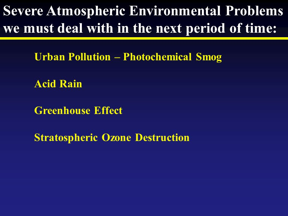 Severe Atmospheric Environmental Problems