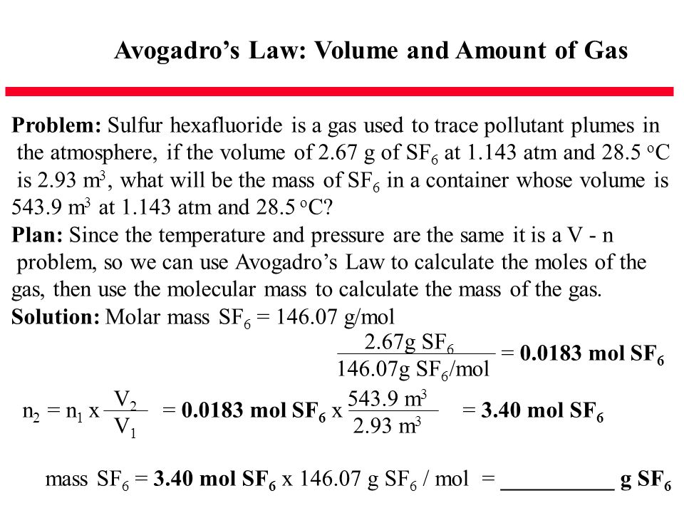 Avogadro's Law: Volume and Amount of Gas