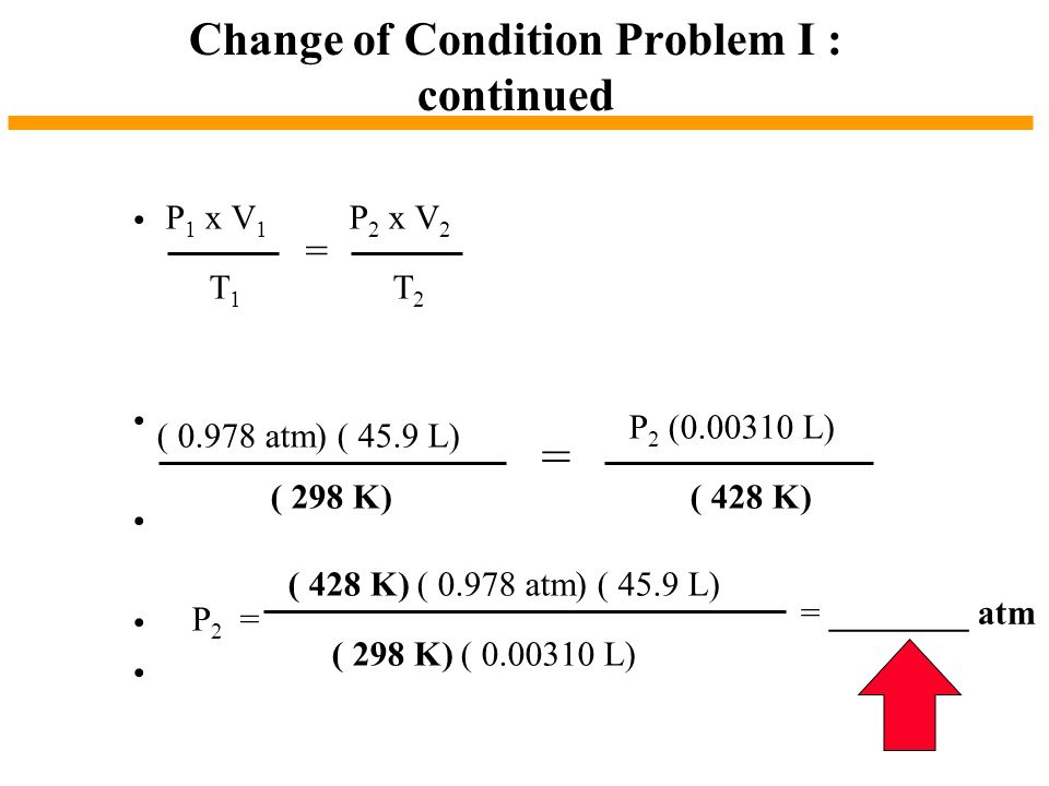 Change of Condition Problem I : continued