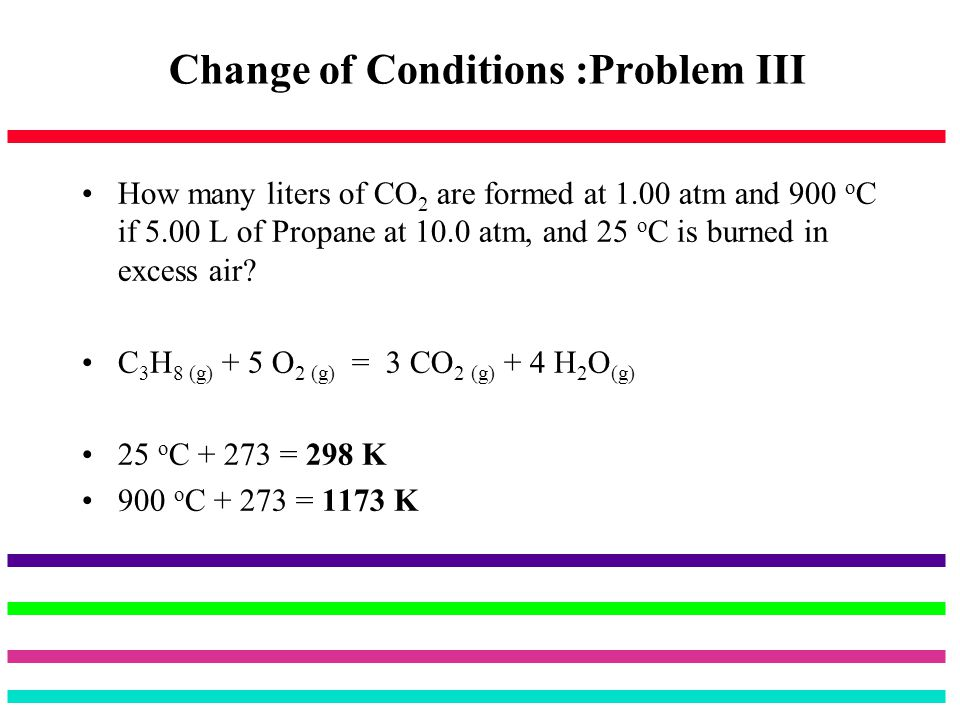 Change of Conditions :Problem III