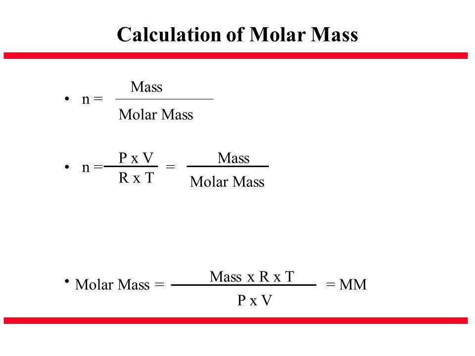 Calculation of Molar Mass
