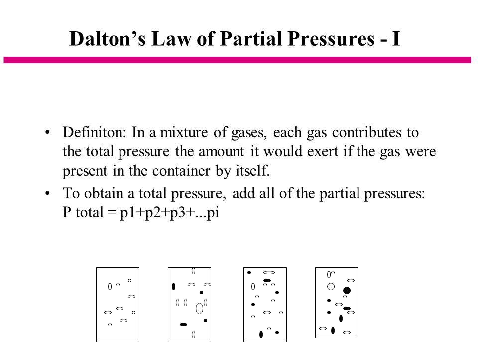 Dalton's Law of Partial Pressures - I