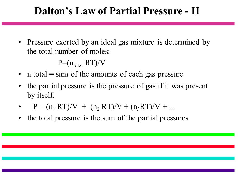 Dalton's Law of Partial Pressure - II