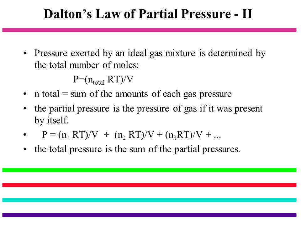 Dalton's Law of Partial Pressure - II