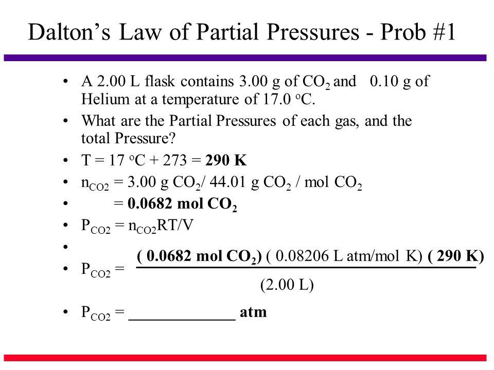 Dalton's Law of Partial Pressures - Prob #1